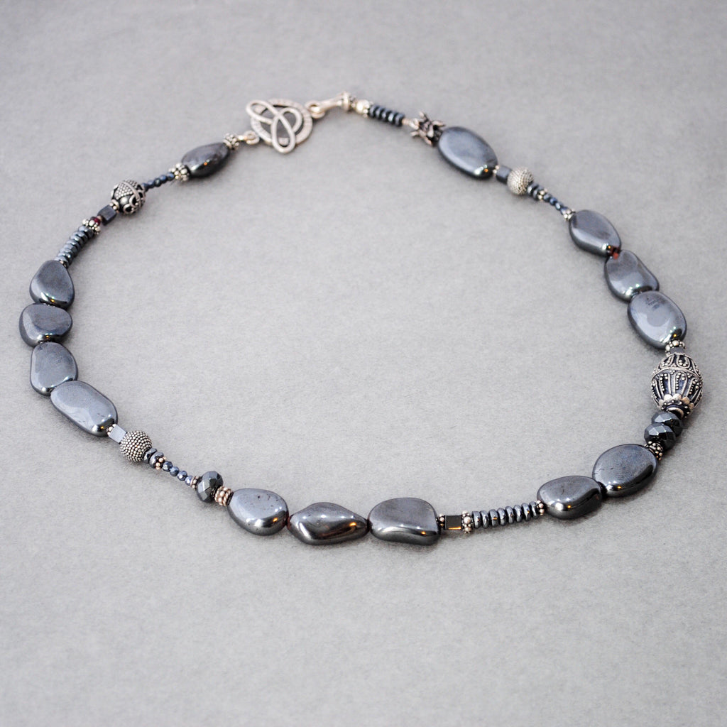 Smooth Hematite Necklace