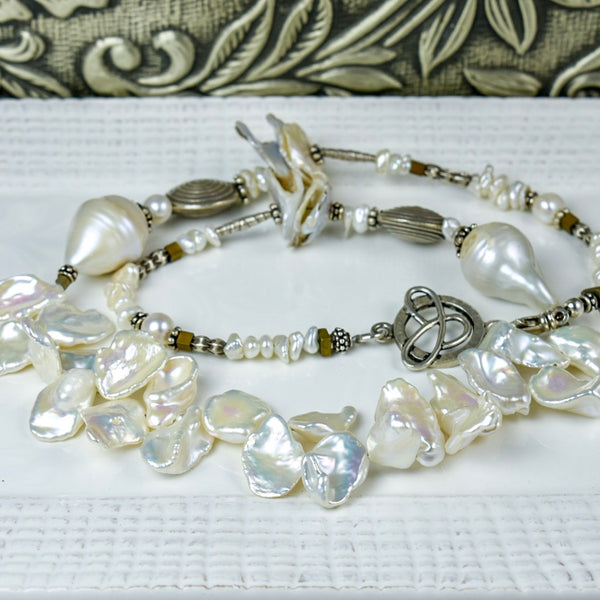 Large Fresh Water Pearl Necklace