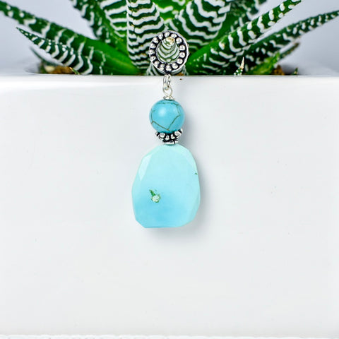 Light Blue Duo Pendant