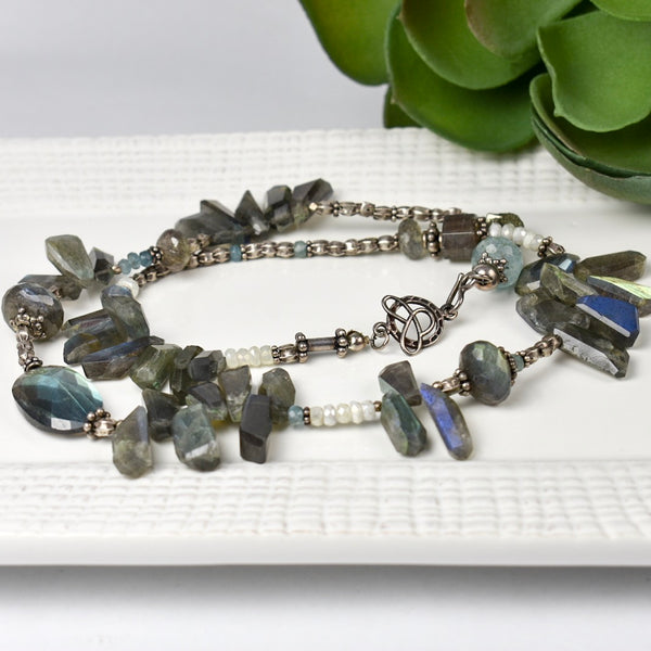 Spikey Labradorite Necklace