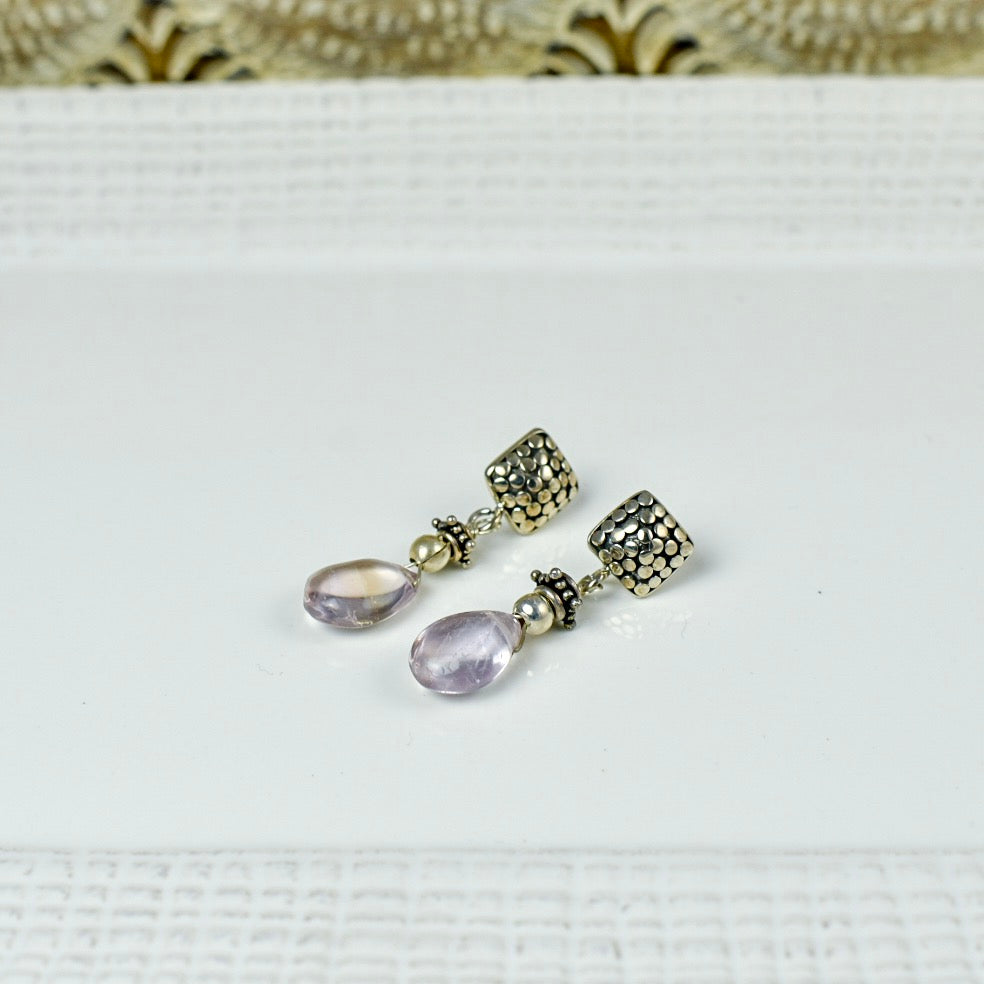Light Amethyst Drop Earrings