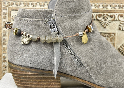 Recycled Glass with Telsum Boot Bracelet