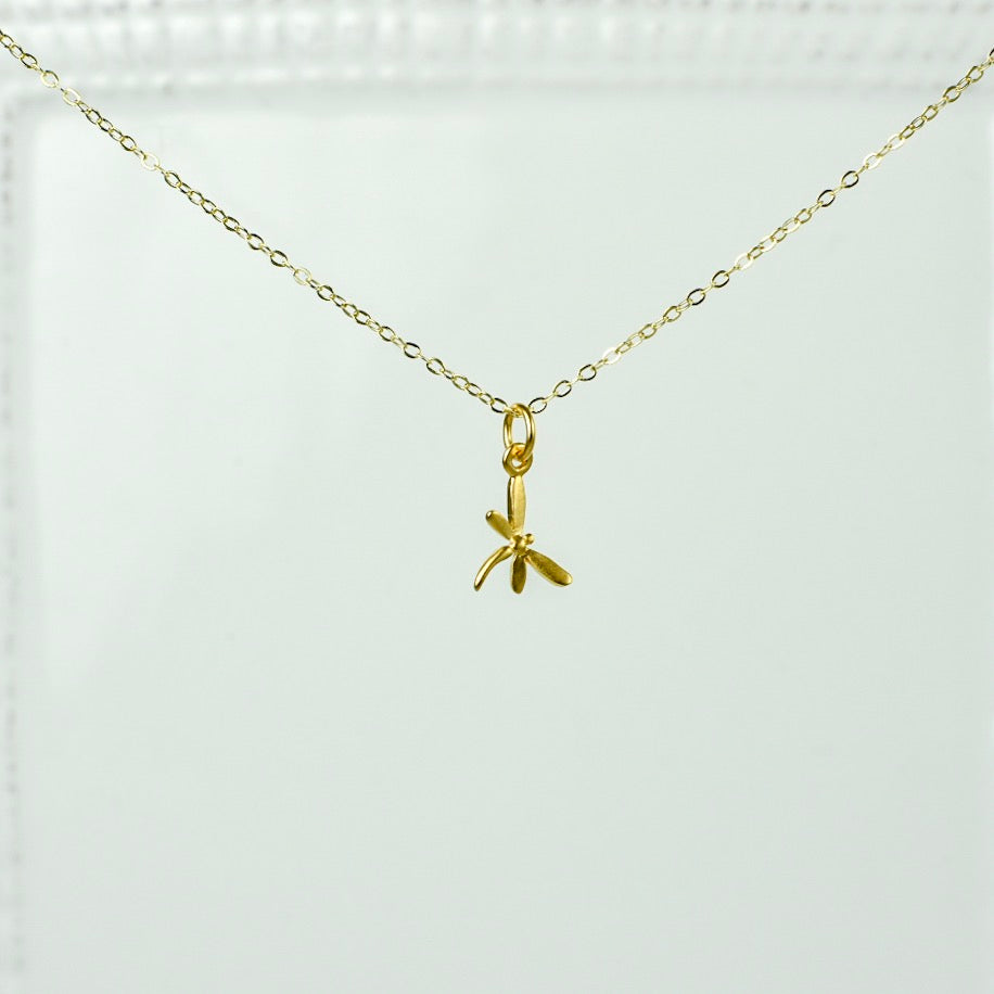 Gold Chain with Dragonfly