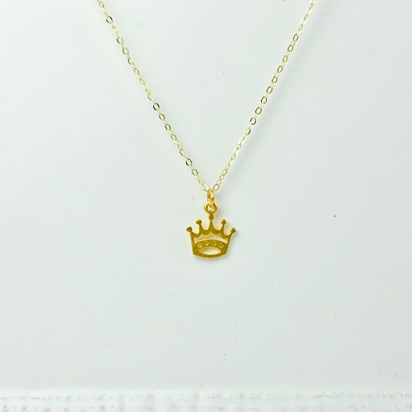 Gold Chain with Crown