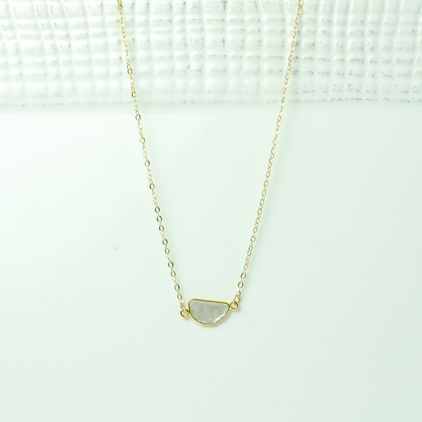 Single Sliced Diamond in Gold