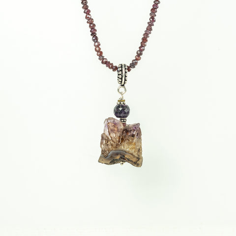 Amethyst Pendant with Amethyst Detail
