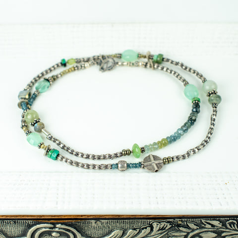 Thai Silver with Green and Blue Details