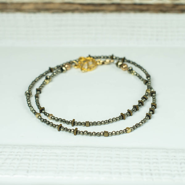 Pyrite Mini Choker