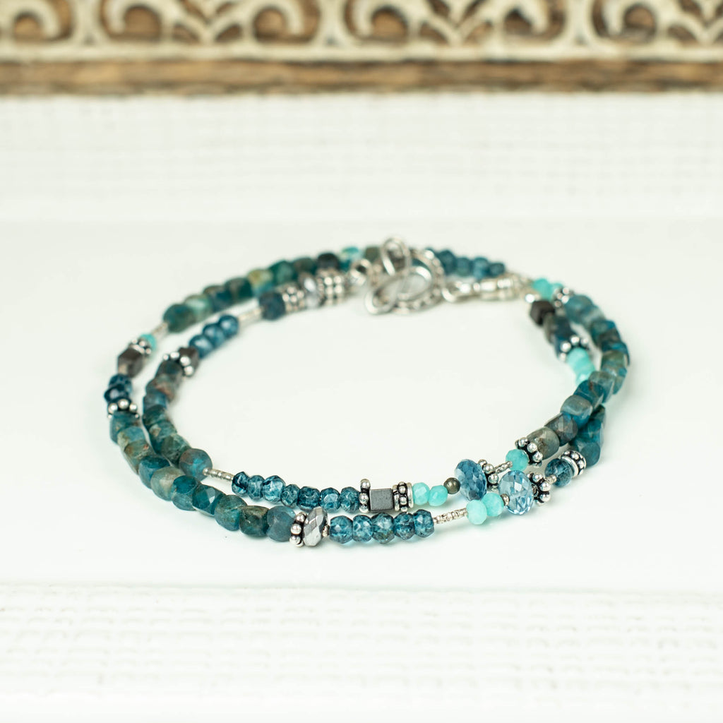 Apatite with London Blue Topaz Mini Choker