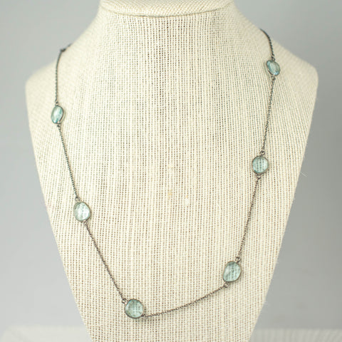 Crystal Blue Quartz Necklace