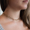 Large Link Gold Vermeil Necklace