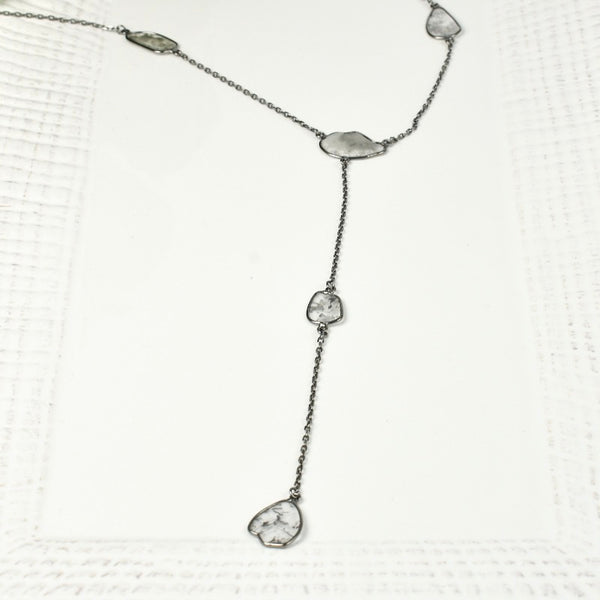 Sliced Diamond Lariat