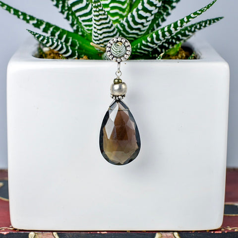 Smoky Quartz Drop