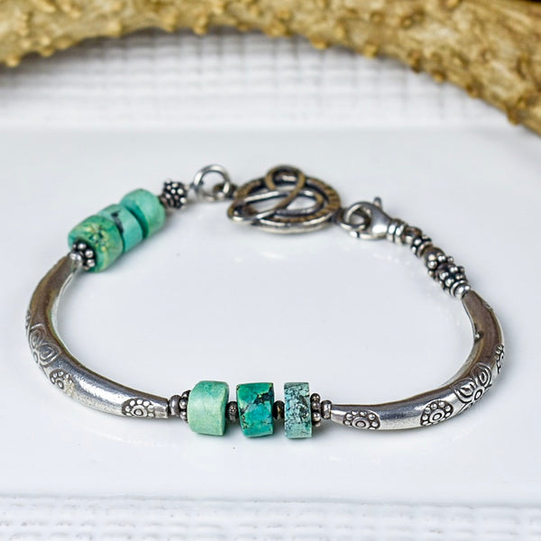 Thai Silver with Turquoise Bracelet