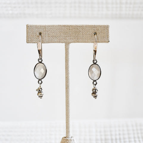 Gray Moonstone on Silver