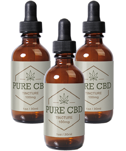 Pure CBD Oil 100mg - 3 Bottles