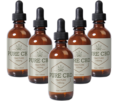 Pure CBD Oil 100mg - 5 Bottles