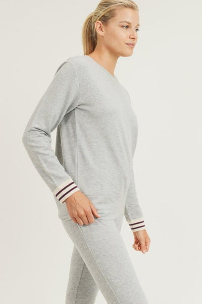 Mono B | Stripe Cuff Sweater