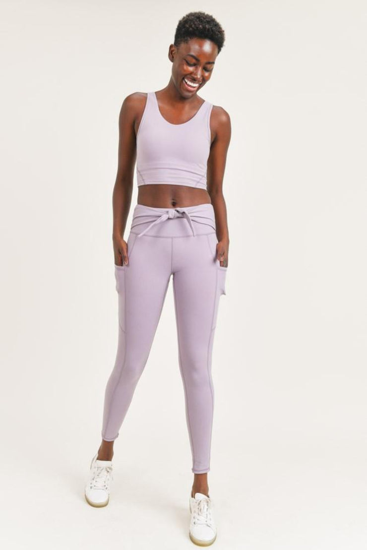 Mono B | Nirvana Tie Front Leggings