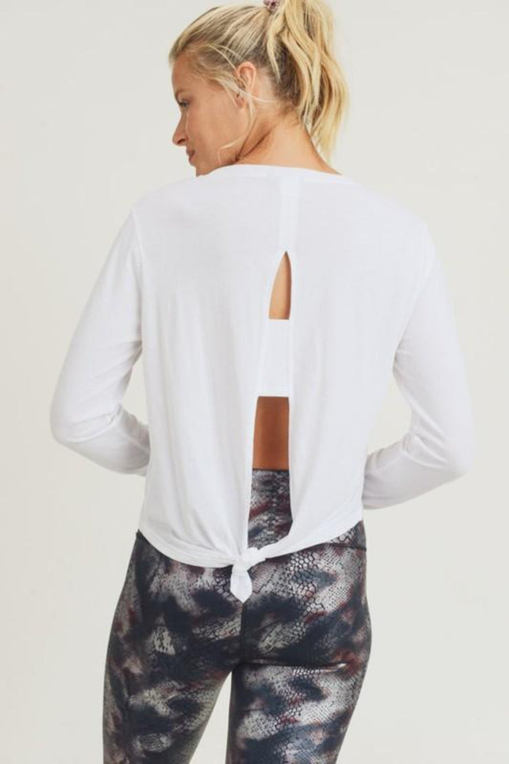 Mono B | Tie Cutout Top | White