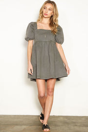 Half & Half | Ginny Puff Sleeve Dress
