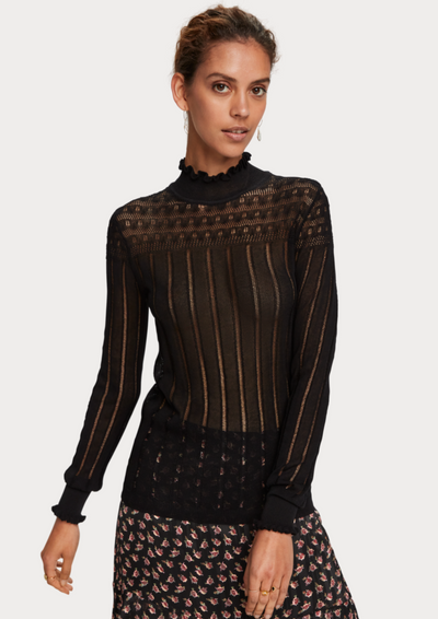 Scotch & Soda | Sheer Layering Knit