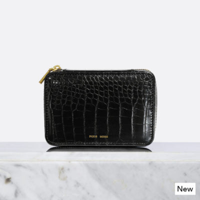 Pixie Mood | Blake Jewelry Case | Black Croco