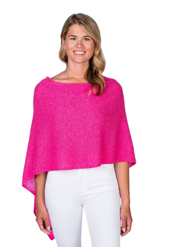 Alashan | Dress Cashmere Poncho | Bloom Pink
