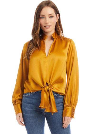 Fifteen Twenty | Gold Tie Front Top