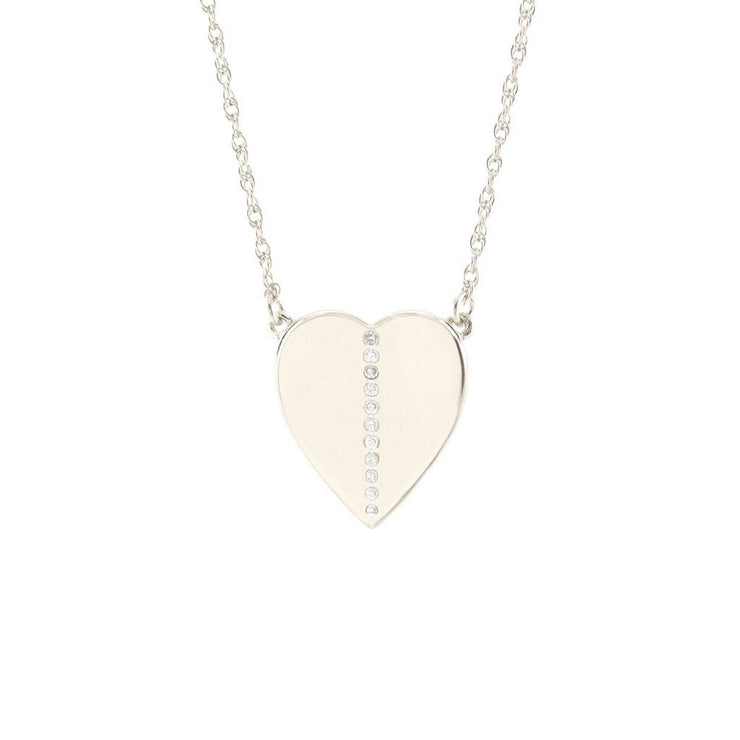 Kris Nations | Silver Medium Heart Necklace
