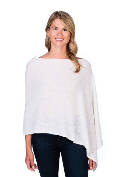Alashan | Dress Cashmere Poncho | Sea Salt