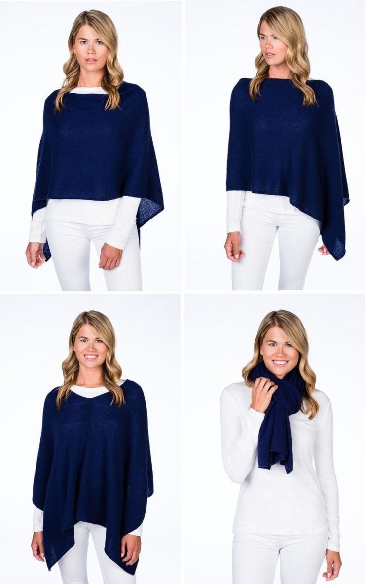 Alashan | Dress Cashmere Poncho | Cruise Blue