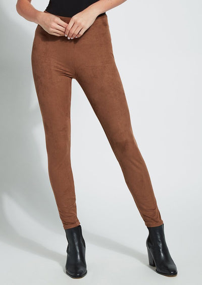 Lyssé | Hi Waist Suede Legging | Danish Brown