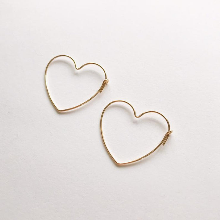 Peg's Hardware | Small Heart Hoops