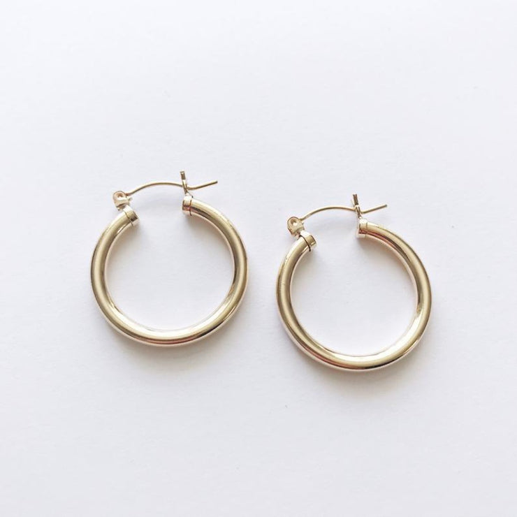 Peg's Hardware | Thick Gold Hoops