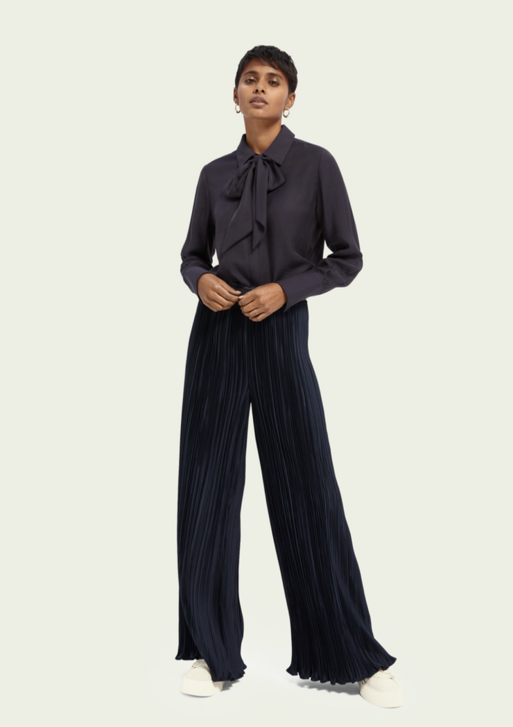 Scotch & Soda | Pleated Wide Leg Pants