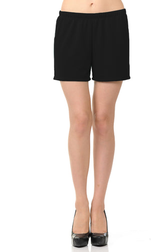 bluensquare Women Knit Shorts Summer Spa Pajama Casual Lounge- Black