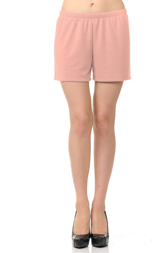 bluensquare Women Knit Shorts Summer Spa Pajama Casual Lounge- Mauve