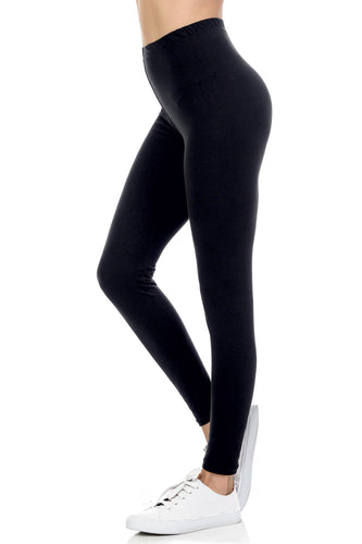 bluensquare LEGGINGS  for Juniors High Waist premium soft brushed Stretched Regular One Size-Navy