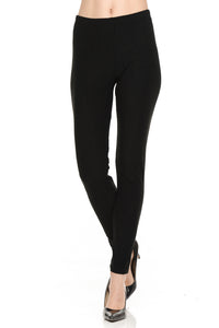 bluensquare Women's LEGGINGS High Waist premium soft brushed 4 way Stretched Full Length-Black
