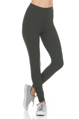 bluensquare LEGGINGS  for Juniors High Waist premium soft brushed 4 way Stretched Regular One Size-Gray