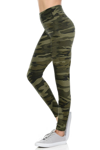 Women Camouflage Leggings Premium Buttery Soft Full length 4 way Streched