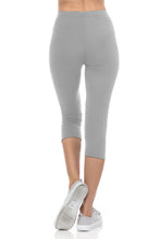 bluensquare LEGGINGS for Juniors High Waist Premium Soft Stretched Regular One Size-Gray Capri