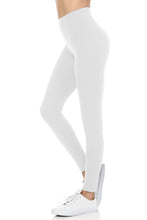 bluensquare Women's Plus Size Leggings High Waist premium soft brushed Full Length -White