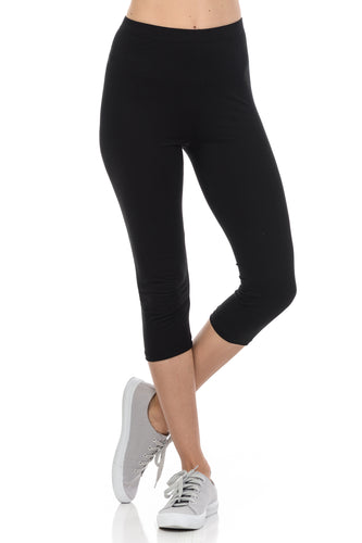 Womens Capri leggings Soft and Streched Cropped leggings for Women by bluensquare- Regular ONE Size