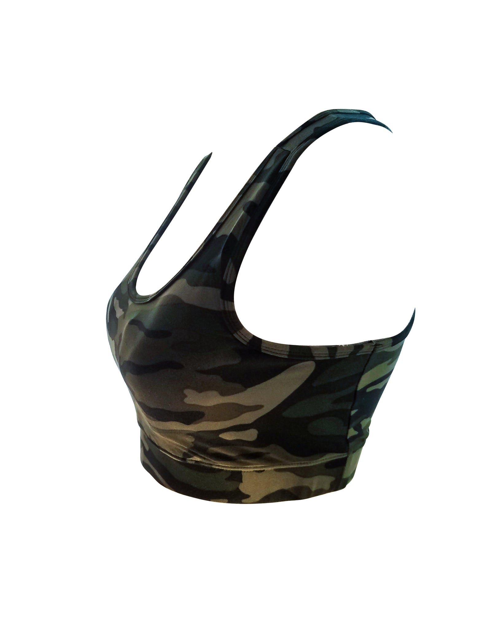 8ee59fd740 ... Top  Bluensquare Women s Sports Bra Racerback Camouflage  Removable Pad  Yoga Gym Fitness Crop ...