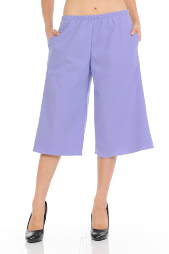 Womens Capri Culottes pants Classic and Chic Style Cropped Wide pants