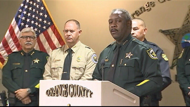 Orange County Sheriff & Commissioner Putnam Hold Press Conference On Gas Station Skimming