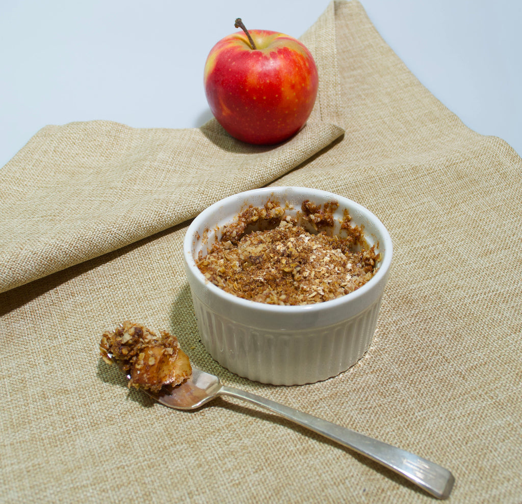 Easy Protein Apple Crumble