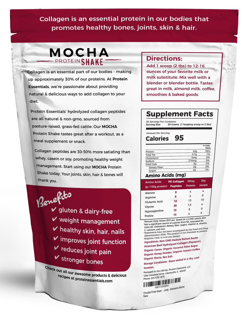 Mocha Collagen Protein Powder Shake